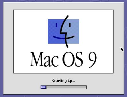 MAC OS 9 booting up on Intel based Mac